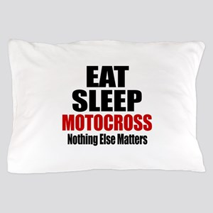 Eat Sleep Motocross Pillow Case