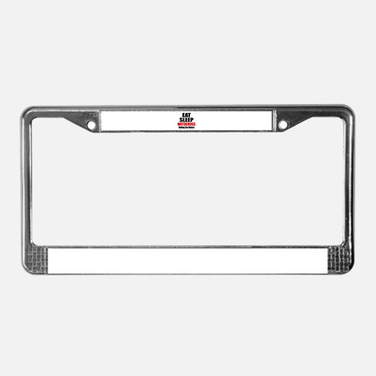 Eat Sleep Motocross License Plate Frame