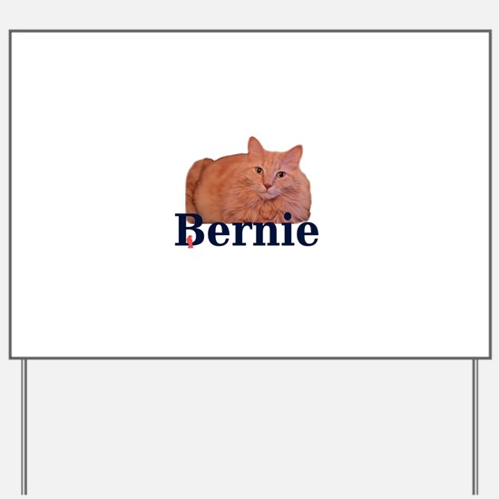 Cats for Bernie Yard Sign