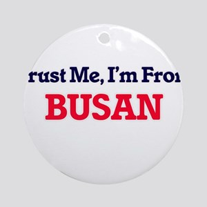 Trust Me, I'm from Busan South Kore Round Ornament