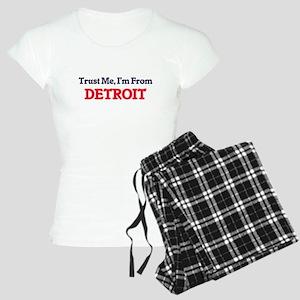 Trust Me, I'm from Detroit Women's Light Pajamas