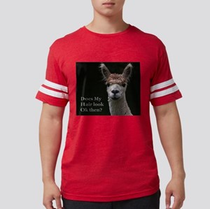 Alpaca with funny hairstyle T-Shirt