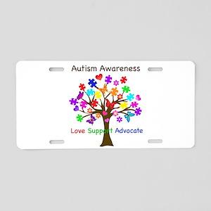 Autism Awareness Tree Aluminum License Plate
