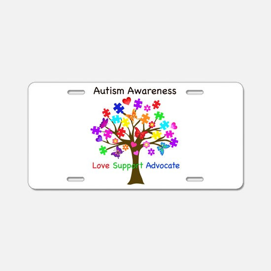 Autism Awareness Tree Aluminum License Plate