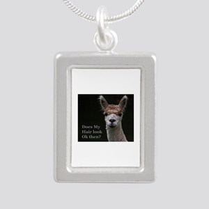 Alpaca with funny hairstyle Necklaces