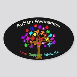 Autism Awareness Tree Sticker (Oval)