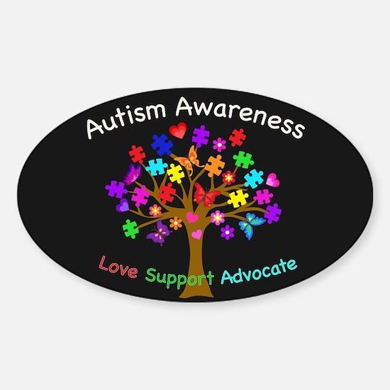 Autism Awareness Tree Sticker (Oval)