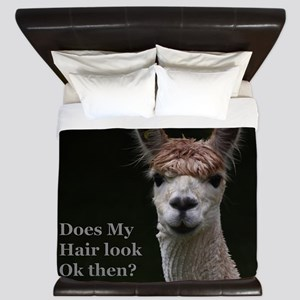 Alpaca with funny hairstyle King Duvet
