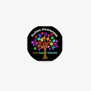 Autism Awareness Tree Mini Button