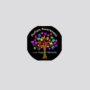 Autism Awareness Tree Mini Button