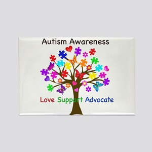 Autism Awareness Tree Rectangle Magnet
