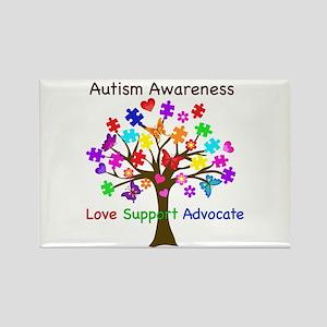 Autism Awareness Tree Rectangle Magnet