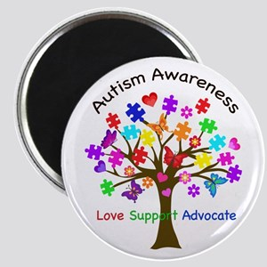 Autism Awareness Tree Magnet