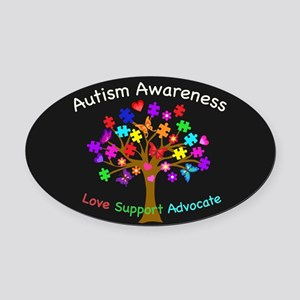 Autism Awareness Tree Oval Car Magnet