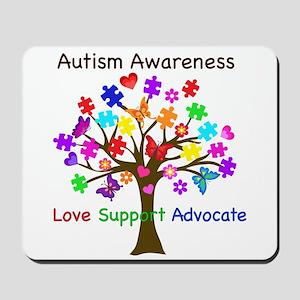 Autism Awareness Tree Mousepad