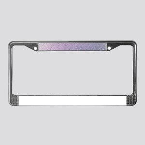 purple stripes pattern modern License Plate Frame