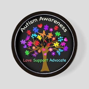 Autism Awareness Tree Wall Clock