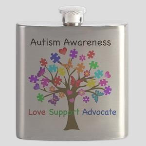 Autism Awareness Tree Flask