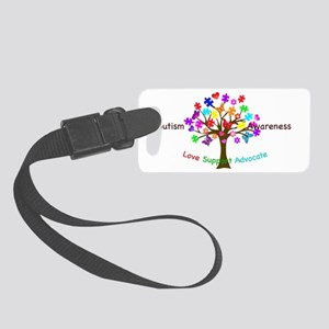 Autism Awareness Tree Small Luggage Tag