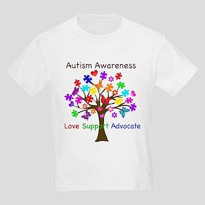 Autism Awareness Tree Kids Light T-Shirt