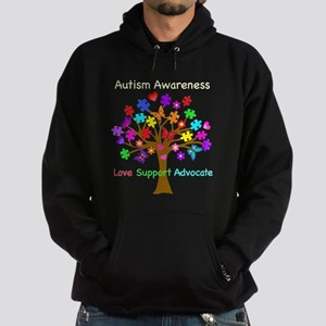 Autism Awareness Tree Hoodie (dark)