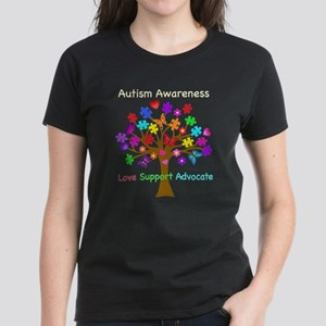 Autism Awareness Tree Women's Dark T-Shirt