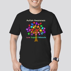 Autism Awareness Tree Men's Fitted T-Shirt (dark)