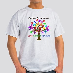 Autism Awareness Tree Light T-Shirt