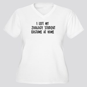 Left my Zoology Student Women's Plus Size V-Neck T