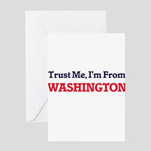 Trust Me, I'm from Washington Distr Greeting Cards