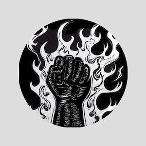 """Black Fist 3.5"""" Button"""