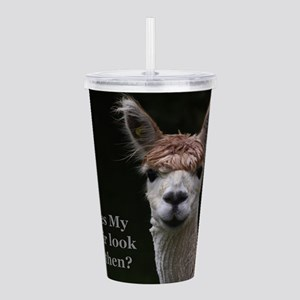 Alpaca with funny hair Acrylic Double-wall Tumbler