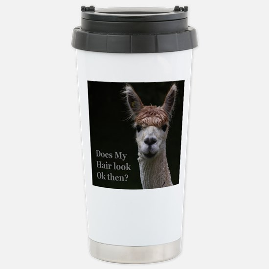 Alpaca with funny hairstyle Mugs