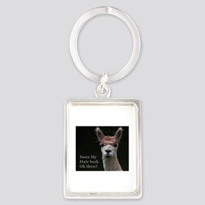 Alpaca with funny hairstyle Keychains