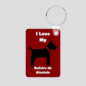 I Love My Rafeiro do Alentejo Dog Keychain Keychai