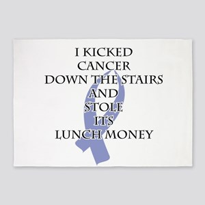 Cancer Bully (Periwinkle Ribbon) 5'x7'Area Rug