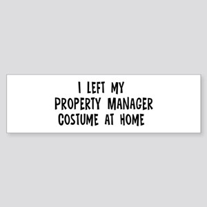 Left my Property Manager Bumper Sticker
