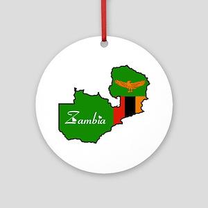 Cool Zambia Ornament (Round)
