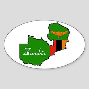 Cool Zambia Oval Sticker
