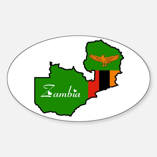 Cool Zambia Oval Decal