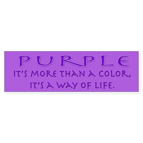 Purple Way Bumper Sticker
