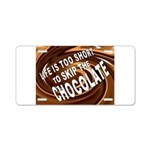 CHOCOLATE Aluminum License Plate