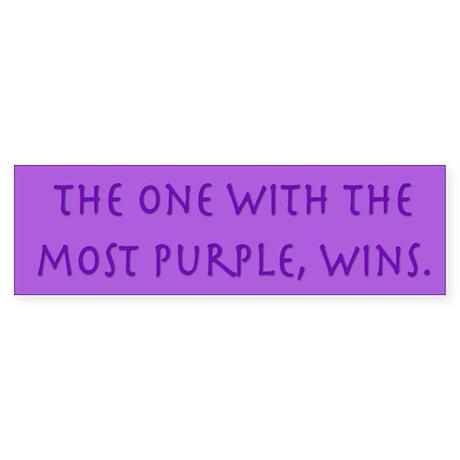 Purple Wins Bumper Sticker