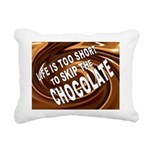 CHOCOLATE Rectangular Canvas Pillow