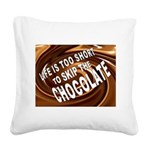 CHOCOLATE Square Canvas Pillow