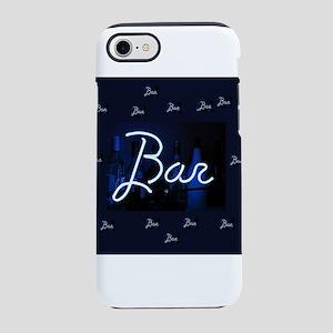 bar sign neon blue party sig iPhone 8/7 Tough Case