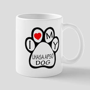 I Love My Lhasa Apso Dog Mug
