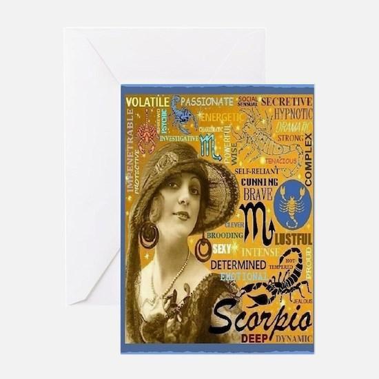 Scorpio Card Greeting Cards