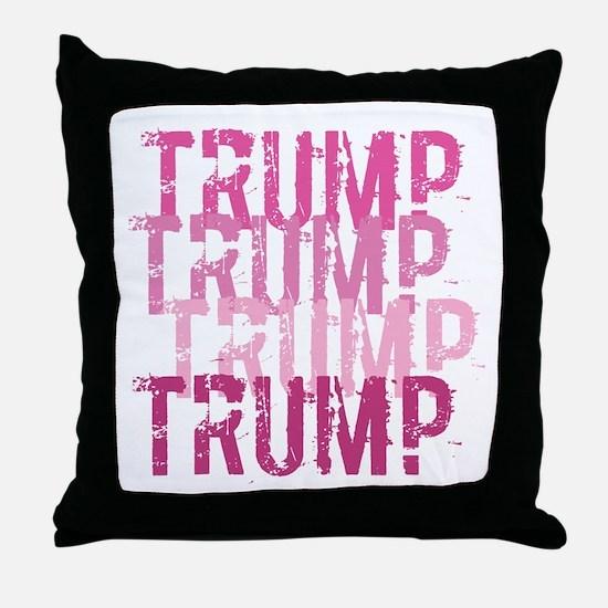 Pink Trump Throw Pillow