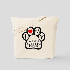 I Love My Japanese Chin Dog Tote Bag